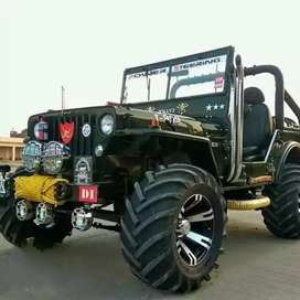 All type modified Open Jeep motor garage