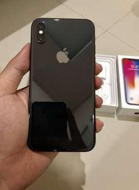 Ready Cash/TT Bisa Iphone X 256GB Grey Second Ex inter Original