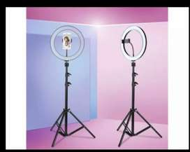 26CM Selfi Ring light with 7.Fit metal Tripod stand .home dilivery