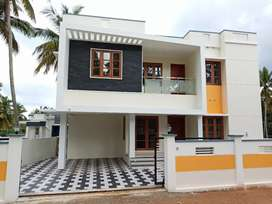 New 2000sqft Red Bricks House Chenkottukonam