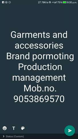 Selling department Brand pormoting production management