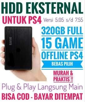 HDD 320GB Mantap Mrh FULL 15 Game Terlaris PS4 Bebas Pilih
