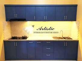 Kitchen set / kitchenset custom top table batu alam granit