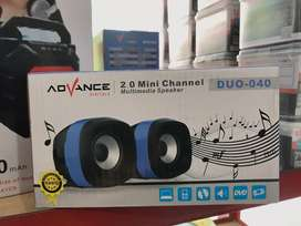 SPEAKER ADVANCE DUO040-SPIKER PC/LAPTOP/HP USB AUX VOLUME CONTROL-NEW