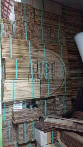 lantai kayu parket flooring  jati lokal