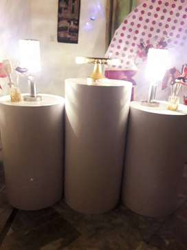 Round Plinths are available for sale