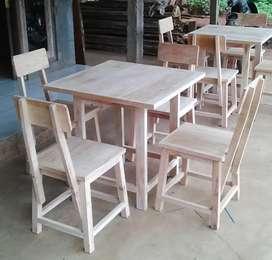 set meja kursi rumah makan