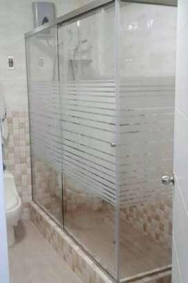 Dekrasi kamar mandi Salon Spa villa dll dgn stiker sunblas motif/polos