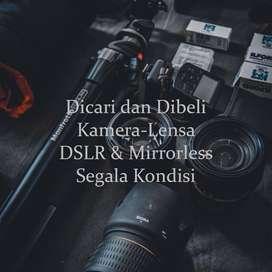 Dibeli Kamera DSLR dan mirrorless anda