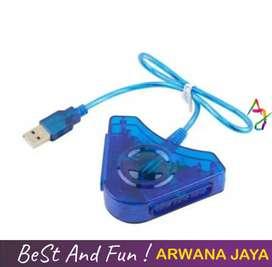 Converter USB 2 Slot Stik Stick PS2 ke PS3 / PC Double