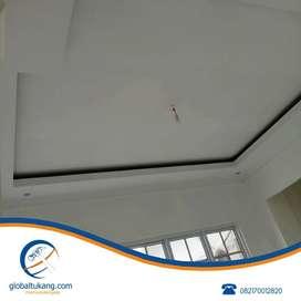Tukang pemasangan plafond gypsum, pvc, dan partisi