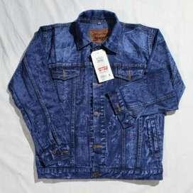 Jaket Jeans Levis Blue Sandwash