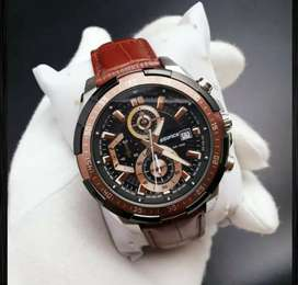 Premium Edifice leather watch CASH ON DELIVERY PRICE NEGOTIABLE HURRY.