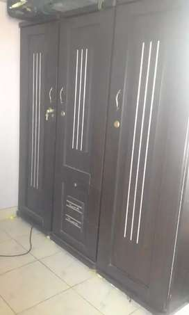 One year used wooden Bed side tables cupboard