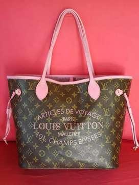 Tas import eks LOUIS VUITTON Neverfull limited mix klit asli pink
