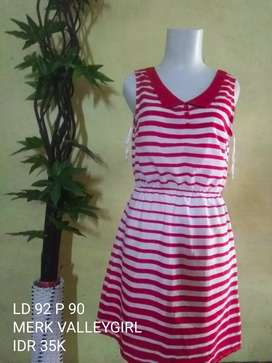 Dress salur merah PL IMPORT