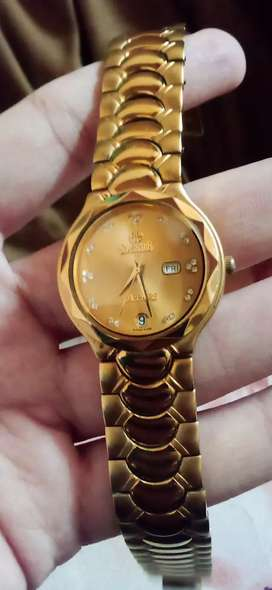 22k Gold Electroplated branded watch