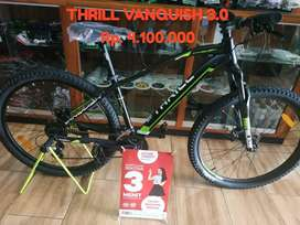 Sepeda thrill vanquish 3.0 bisa cicilan 0% tanpa CC tanpa DP