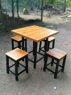 Meja kursi cafe kedai kopi yang unik