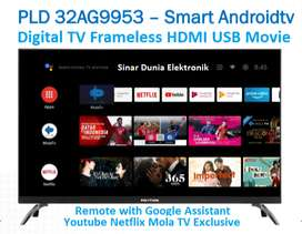 Polytron LED Smart Android TV 32 Inch Digital Frameless PLD 32AG9953
