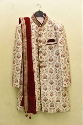 Sherwani for Dulha Branded(Jai Hind)only Once Used &then Dry cleanened