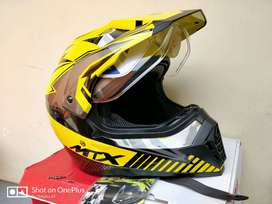 Helm Yamaha MTX Full Face Cross Motif Kuning 100% Baru L XL XXL.