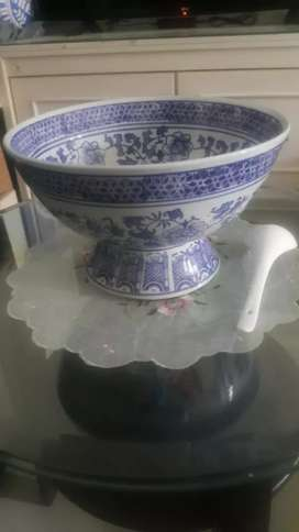 Bowl Keramik Biru Putih