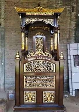 mimbar masjid kubah biasa jati