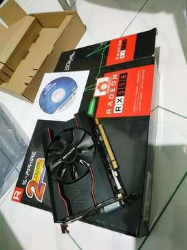 VGA card render gaming ultra Shappire RX550 up 8gb ddr5 fullset