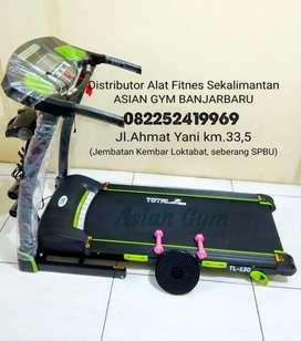 Ready treadmill elektrik 2hp multifungsi dan run area panjang