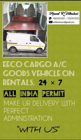 EECO CARGO A/C VEHICLE ON RENT RS 15 PER KM.