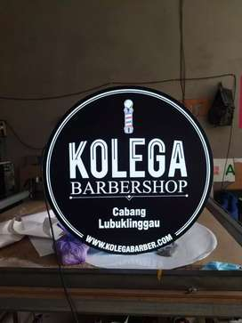 Neonbox signage barbershop cukur rambut