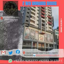 Saima pari star block h 2 bed d d  North nazimabad flat