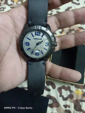 Tubular brand new high quality silver amazing look date and time