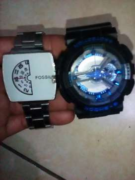 Jam tangan G-shock dan jam tangan fossil