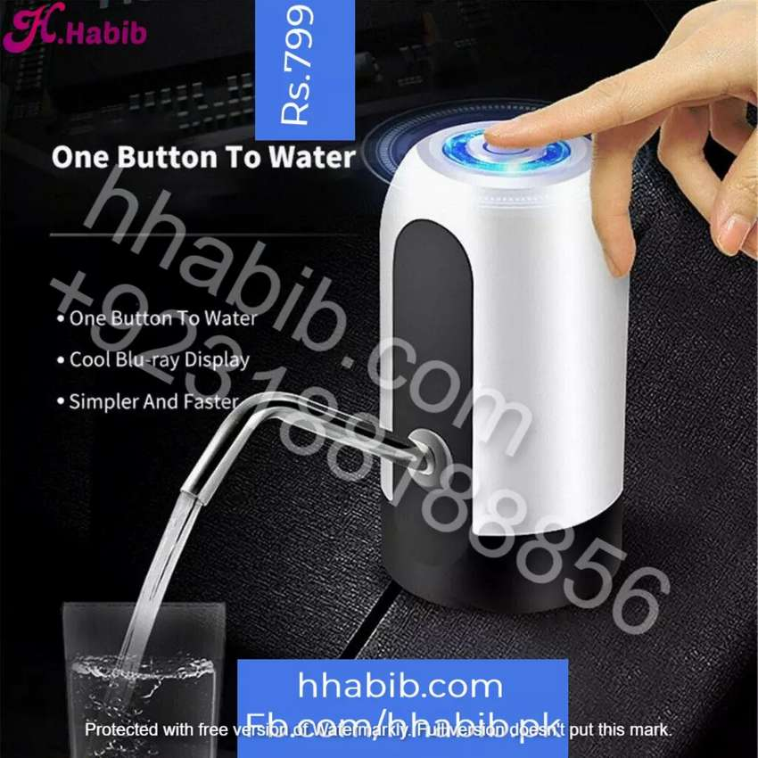 Portable Electric USB Recharging Drinking Automatic Water Pump 0