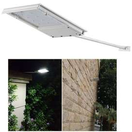 Lampu jalan mini 15 LED tenaga surya solar taman tiang putih