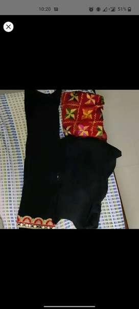 Patiala suit with fulkari