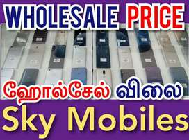Wholesale Price For All-Model Used Mobiles At SKY MOBILES Coimbatore,