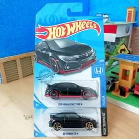 Hot wheels Hotwheels Paket Honda Civic type r dan CR-X Black Hitam