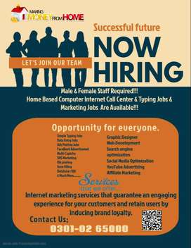 authentic form filling job is offering for male & female