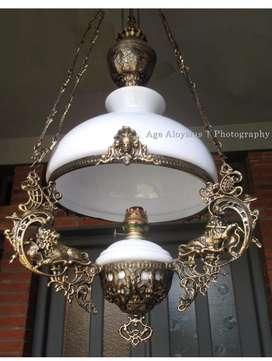 Lampu gantung antik repro lawasan katrol betawi kerek