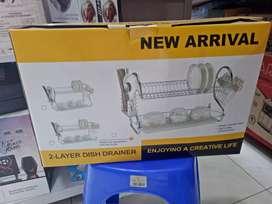 Rak piring stainless dualayer antikarat new jantungacc