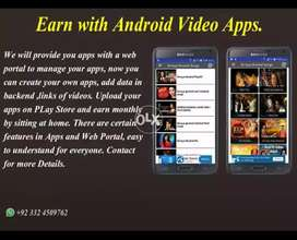 Earn with android video apss