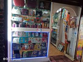Double shutter shop with all products and furnitures