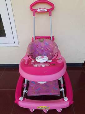 Baby walker pink family
