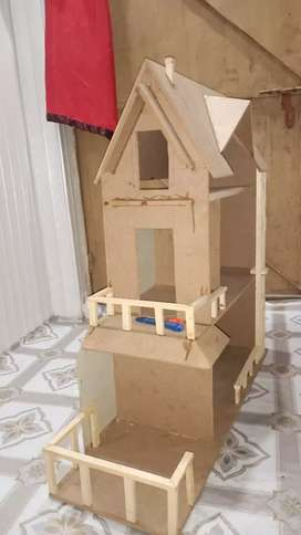Wooden Doll house.  New 2020. Fresh hand made