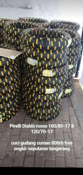 BAN PIRELLI DIABLO ROSSO SPORT 120/70/17&DIABLO ROSSO CORSA II 100/80
