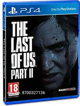 LAST OF US2 PS4 GAMES AVAILABLE.