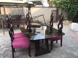 Dinning table with 8 Chairs.